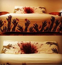 Zombie bed cover (zombies,bed cover,bed,quilt,duvet,cool,walking dead,stuff)