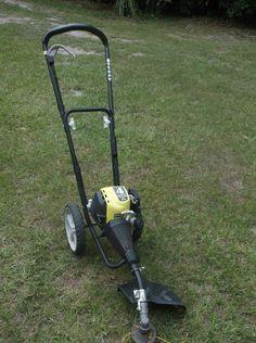Ryobi 4-Cycle 30cc Gas Wheeled Trimmer RY13016 Weed Wacker String Tool T430…