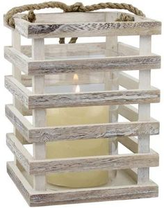Illuminate any space as well as your sense of style with this Stonebriar Collection weathered beach house lantern. Beach Cottage Style, Beach House Decor, Diy Home Decor, House Candle Lantern, Candle Lanterns, White Beach Houses, Wooden Lanterns, Scrap Wood Projects, Ideias Diy