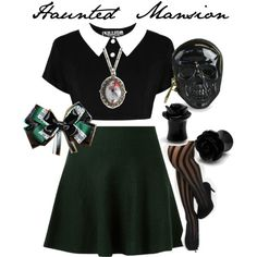 Haunted Mansion Disneybound by ashleycottoncandy on Polyvore featuring Loungefly