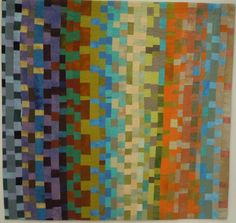 Nancy Crow, Color Blocks #69, 1995.  Posted at Art with a Needle