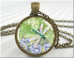 Dragonfly Art Pendant Resin Pendant Dragonfly by MGArtisanPendants, $12.95