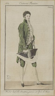 A very formal dress suit, including sword. So presumably for court, 1812 costume parisien