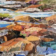 DETAIL from commissioned, large format, landscape collage. Large Format, Collage, Landscape, Abstract, Detail, Nature, Artist, Painting, Summary