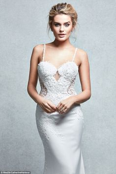 Bride-to-be: Chloe Lloyd looked sensational as she donned an array of wedding gowns as the new face of Wed2B, ahead of her own nuptials to Union J's Josh Cuthbert