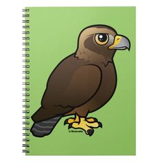 Golden Eagle Photo Notebook x 80 Pages B&W) Eagle Cartoon, Eagle Bird, Golden Eagle, Lined Page, Cute Birds, Custom Notebooks, Beautiful Birds, Baby Animals, Colorful Backgrounds
