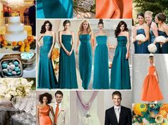 colours, orange teal