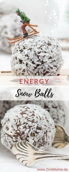 Rezept für Energy Snow Balls: So kann der Winter kommen! Healthy Smoothies, Healthy Drinks, Smoothie Recipes, Healthy Sport, Chocolate Bonbon, Healthy Chocolate, Travel Blog, Flower Food, Cupcakes