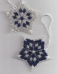 christmas ornaments made from plastic canvas | ... made-plastic-canvas-needlework-star-ornaments-2009-star-ornaments.jpg