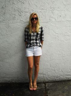 Gingham & white denim- so summertime.