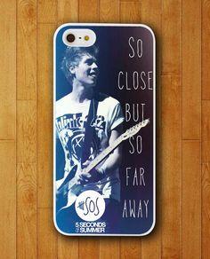 Luke Hemmings 5 Seconds of Summer in Guitar Design iPhone Skin Protector for iPhone 4 4S 5 5S 5C