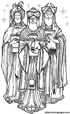 Christmas Coloring Pages | three-wise-men-christmas-coloring-pages-11.png