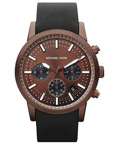 Michael Kors Watch, Men's Chronograph Scout Black Silicone Strap 43mm #Macy's