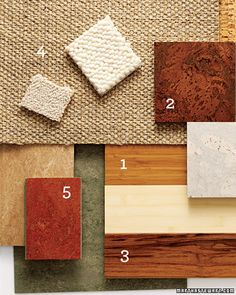 Eco Flooring - Martha Stewart Home & Garden. Cork flooring in family room Eco Friendly Flooring, Eco Friendly House, Vinyl Flooring, Kitchen Flooring, Cork Flooring, Feng Shui, Martha Stewart Home, Eco Friendly Cleaning Products, Budget