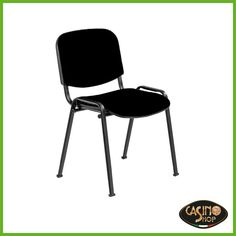 ART.0067 Sedia con seduta e schienale imbottito  Versatile e giovane, sedia con seduta e schienale imbottito, disponibile nel colore nero. La forma anatomica è studiata per dare comodità e offre maneggevolezza e impilabilità. Dimensioni: L 57 x P 54x H46/80 cm