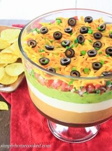 This 7 layer dip is always one of the first dishes gone at parties. It's very easy to make and tastes so delicious. There are many variations of this Mexican dip, but this is personally my favorite version. If you prefer to use homemade pico de gallo inst Dip Recipes, Baby Food Recipes, Mexican Food Recipes, Appetizer Recipes, Food Baby, Recipies, Easy Recipes, Snack Recipes, Dinner Recipes