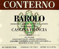 2005 Conterno Giacomo  Cascina Francia Barolo Piedmont 750ml -- Continue to the product at the image link.