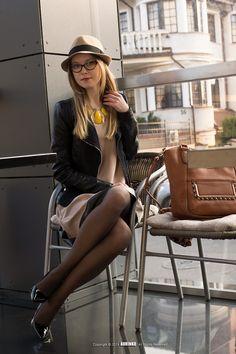 Kristina K-ak - Reserved Hat, Wittchen Bag, Zara Heels - Beige Dress | LOOKBOOK