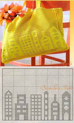 Crocheted shopping bag idea