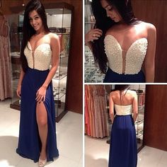 Beautiful Prom Dress, prom gown royal blue evening gowns party dresses evening gowns sexy formal dress for teens Meet Dresses Royal Blue Evening Gown, Beaded Evening Gowns, Chiffon Evening Dresses, Cheap Evening Dresses, Cheap Prom Dresses, Party Dresses, Dresses Uk, Grad Dresses, Long Dresses