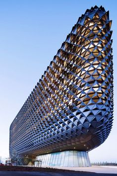The South Australian Health and Medical Research Institute by Cundall (Architect: Woods Bagot) Architecture And Design Australian Architecture, Futuristic Architecture, Beautiful Architecture, Contemporary Architecture, Contemporary Bedroom, Futuristic Interior, Contemporary Cottage, Contemporary Apartment, Contemporary Wallpaper