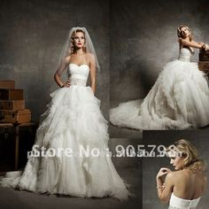 Unique Sweatheart Beaded ball gown wedding gown-in Wedding Dresses from Apparel & Accessories on Aliexpress.com
