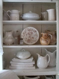 Refinement and careful staging of beautiful old stoneware