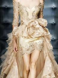 golden wedding dress for your not so typical bride