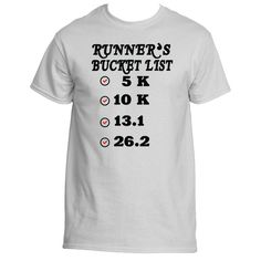 Runner's Bucket List 26.2 T-Shirt, Tees & Shirt|Underground Statements