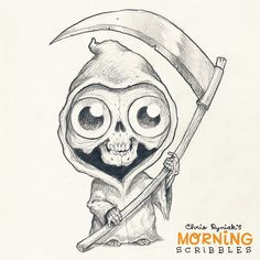 Lil' Reaper! #morningscribbles #halloween #october