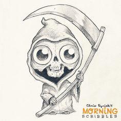 Lil' Reaper! #morningscribbles #halloween #october