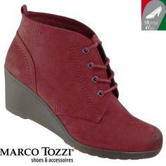 Marco Tozzi női bokacipő 2-25105-25 502 bordó