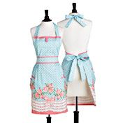 Jessie Steele Cottage Bows and Roses Apron