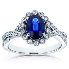 Oval-Blue-Sapphire-and-Diamond-Antique-Engagement-Ring-1-1-4-CTW-in-14K-White-Go