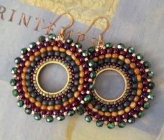 Beadwork Earrings Wild Berries Multicolored by WorkofHeart