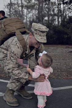 Oh,... that special moment. I remember this when my son was little...first Gulf War. Precious!