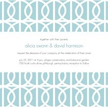 Icy Blue Winter Wedding Invites