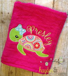Fancy Name And Initial Monogrammed Towels By SewForChildren On - Monogrammed bath towels for small bathroom ideas