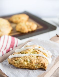 Apple scones with apple pie spiced icing
