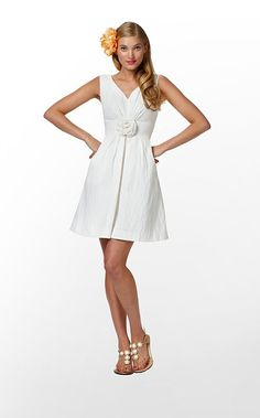 """Parker Dress"" in ""Resort White Textured Lattice Jacquard"" (Spring 2012) #lillywishlist"