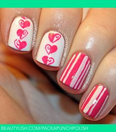 Valentine's Day Nail Art | Samantha of PackAPunchPolish S.'s (packapunchpolish) Photo | Beautylish