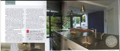 """Yasmin and Henry's kitchen is sleek, with a glossy exterior. Their designer, Rob insisted that the couple install a Quooker boiling water tap.    """"Oh, it's so brilliant,"""" says Yasmin. """"I now feel sorry for people with kettles!"""