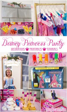 Disney Princess Party Ideas, including free printables, tutorials, crafts, princess food ideas, and more!