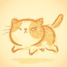 Impudent cat on Behance