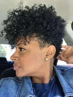 hair videos hairstyles pics haircut knoxville hairstyles red carpet are curly hair hairstyles hairstyles crochet hairstyles short length Short Curly Hair, Short Hair Cuts, Curly Hair Styles, Natural Hair Styles, Curly Girl, Natural Tapered Cut, Tapered Natural Hair, Tapered Afro, All Natural Hair Products