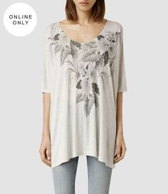 Mujer Kyo Dream Tee (Light Grey Marl) -