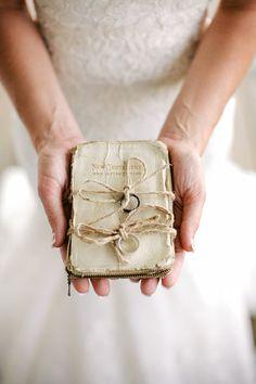 white Bible in lieu of ring pillow   Andrew Allen Morton #wedding