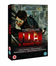 Mission Impossible: Quadrilogy (1-4 Box Set) [DVD]: Amazon.co.uk: Tom Cruise, Jeremy Renner, Simon Pegg, Brad Bird: DVD & Blu-ray