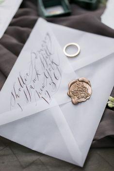 Painted Envelopes_ calligraphy on vellum envelope