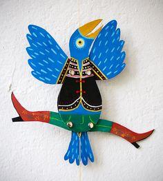 Birdy The Cowboy Monster Jumping Jack von MarelleG auf Etsy, €35.00